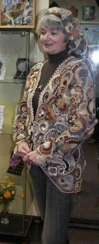Russian Crochet, Irish Crochet, Freeform Crochet, Knit Crochet, Bruges Lace, Irish Traditions, Point Lace, Crochet Jacket, Russian Fashion