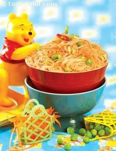 Dont prevent your kids from eating their favourite foods; inject good health into them instead by adding the right ingredients. For example, use rice noodles instead of refined flour (Maida) noodles and add healthy ingredients like veggies, sprouts, peanuts etc. By concocting healthier versions of their favourite dishes, your kids can have their way, and so can you!