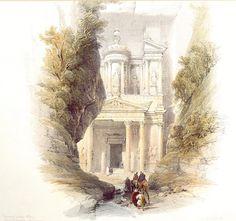 The Treasury, Petra by David Roberts