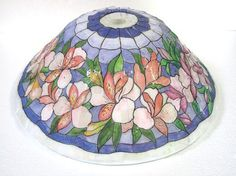 a stained glass lamp on the mold