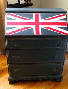 Union Jack Dresser/Desk $165 - Crystal Lake http://furnishly.com/union-jack-dresser-desk.html