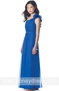 #BallGown #OneShoulder #ChiffonAnkle-length #Junior #Bridesmaid #Dresses 07010  $88.50  Find it here.... http://honeydress.com/b/Ball-Gown-One-Shoulder-Chiffon-Ankle-length-Junior-Bridesmaid-Dresses-07010.html?utm_source=SNS%5FSource_medium=SNS%5FPinterest_term=Pinterest_campaign=Pinterest%5FPost_nooverride=1...