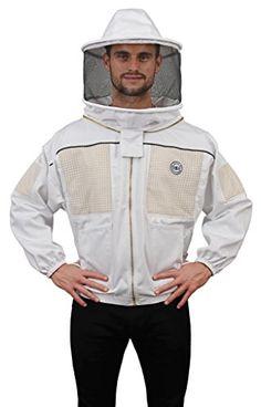 Eco Keeper Bee Jacket-Zipper Veil Hooded Jacket beekeeping jacket 4X Large