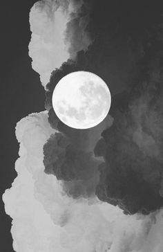 full moon | universe | clouds | sky