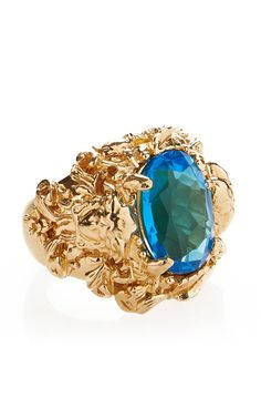 Blue Crystal Ring - Versace Issues and Inspiration on Womens Fashion Follow us and enjoy http://pinterest.com/ifancytemple