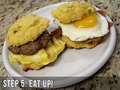 Ultra Low Carb Breakfast Sandwiches - Athlete.io - Formerly DangerouslyHardcore.com