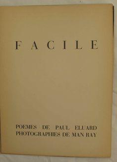 Httpstumblrindashblogpeeprinvitation au voyage facile poems by paul luard photographs by man ray stopboris Image collections