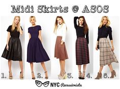 NYC Recessionista: Fabulous Five: Midi Skirts at Asos