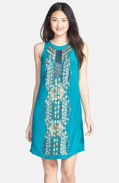 Nicole Miller 'Jessi' Bead Embellished Silk Dress available at #Nordstrom