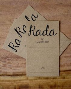 "Svatební kartička ""Rada do manželství"" / Zboží prodejce najtrou 