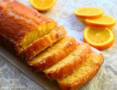 Orange Pound Cake With Orange Syrup & Glaze.I think I would like to use lemon instead of orange. Just Desserts, Delicious Desserts, Dessert Recipes, Quick Cake, Pound Cake Recipes, Pound Cakes, Loaf Cake, Sweet Bread, Cupcake Cakes