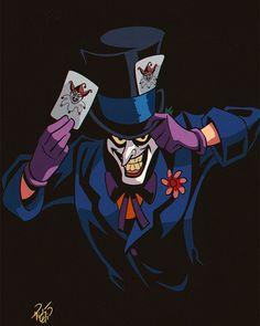 Batman Villain Mashup 04 of 12 - Joker + Mad Hatter What name would you give him? Joker Batman, Joker Art, Batman And Superman, Mad Hatter Batman, Gotham Villains, Comic Villains, Joker Pics, Batman Artwork, Poison Ivy