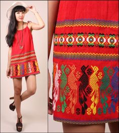 Mexican inspired shift dress