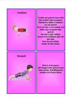 Barnyoga kort. Yoga For Kids, Exercise For Kids, Learn Swedish, Swedish Language, Yoga Meditation, Back To School, Massage, Education, Learning