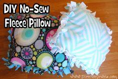 Director Jewels: Kid Craft: DIY No-Sew Fleece Tie Doll Pillow Tutorial