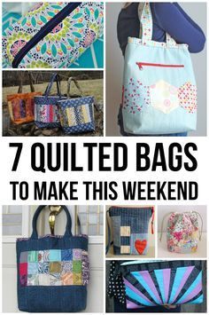 Weekend Warriors: 7 Quilted Bag Patterns