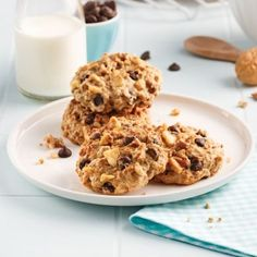 Fluffy banana and chocolate cookies - Caty recipes Low Carb Recipes, Vegan Recipes, Protein Foods, Protein Recipes, Vegetable Drinks, Healthy Eating Tips, Sourdough Bread, Mushroom Recipes, Quick Bread