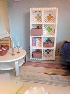 3D perler bookshelf for dollhouse