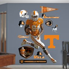 NCAA/NFLPA Cordarrelle Patterson Tennessee Volunteers Wall Decal Sticker