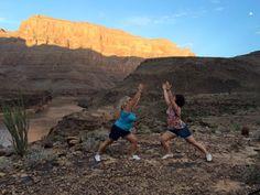 Fabulous Warrior Yoga poses in the Grand Canyon, Arizona :)
