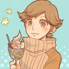 Ken Amada, Persona 3... ¿Eating an ice-cream?