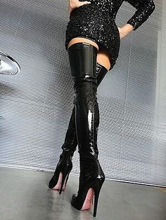 High Heels Outfit, Thigh High Boots Heels, Stiletto Boots, Sexy High Heels, Super High Heels, Platform High Heels, Leather High Heel Boots, Heeled Boots, Crotch Boots