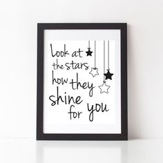 Look at the stars, how they shine for you Song: Yellow Artist: Coldplay…