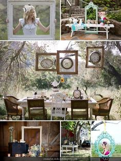 i want a fairy tale/ alice in wonderland tea party theme for a wedding reception.... maybe