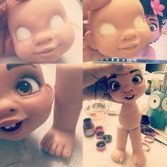 Assim nasce uma Moana baby aqui no Ateliê! #princesamoanadisney