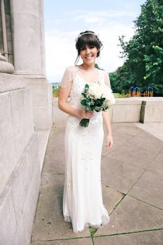 A Beaded Gown and Delicate 'Emmy' Headpiece for an Art Deco Inspired Wedding at the Midland Hotel | Love My Dress® UK Wedding Blog