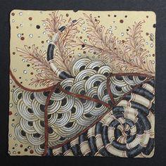Zentangle on elegant Renaissance paper. Designed my Mickey Baxter-Spade, CZT