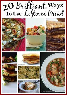 Recipes With Bread Slices, Leftover Bread Recipes, Leftovers Recipes, Frugal Meals, Cheap Meals, Easy Meals, Frugal Recipes, Freezer Cooking, Cooking Recipes
