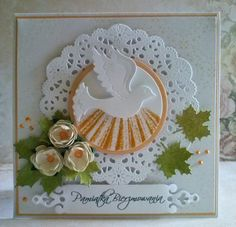 Pamiątka Bierzmowania... First Communion Cards, First Holy Communion, Confirmation Cards, Diy And Crafts, Paper Crafts, Christian Cards, Communion Invitations, Spellbinders Cards, Making Greeting Cards