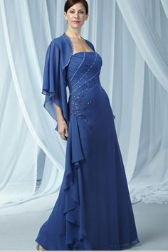 Strapless Floor Length Chiffon  Blue Mother Of The Bride Dresses Under 200
