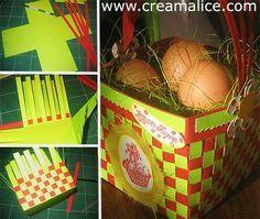 ❀ ✄ DIY Panier Tressé Pâques / DIY Easter Basket ✄ ❀  www.creamalice.com
