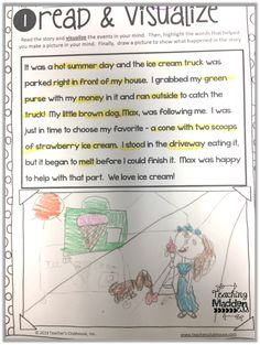 Reading Strategies Visualize - searching for words that paint a picture