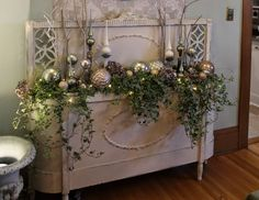 Headboard and Footboard combined to create a Console Table