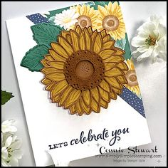 Small Sunflower, Sunflower Cards, Thank You Card Design, Thank You Cards, Peonies Garden, Poinsettia, Special Gifts, Stampin Up, Birthday Cards