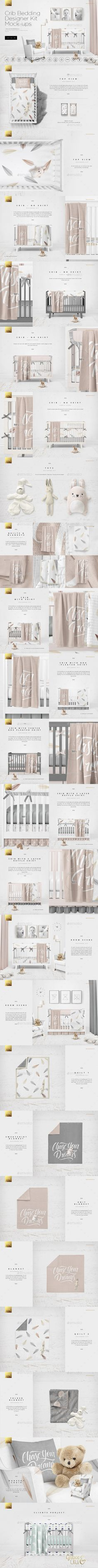 Crib Bedding Designer Kit Mock-ups PSD Template • Download ➝ https://graphicriver.net/item/crib-bedding-designer-kit-mockups/17136546?ref=pxcr