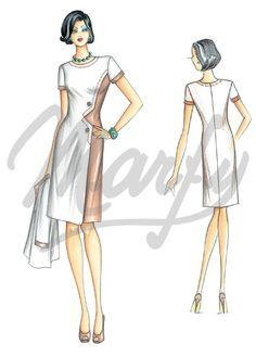 Molde 3339 | Patrón de costura Vestidos