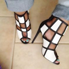 Buy Womens Sexy High Heels Stilettos Pumps Sandals Shoes at Wish - Shopping Made Fun Hot Shoes, Crazy Shoes, Me Too Shoes, Shoes Heels, Footwear Shoes, Converse Shoes, Dress Sandals, Dress Shoes, Gladiator Sandals