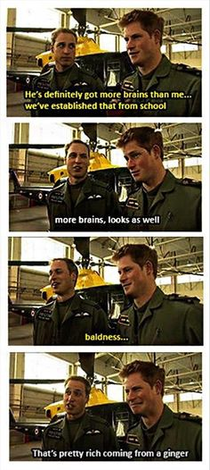 Prince William and Harry,  brotherly love. Lol