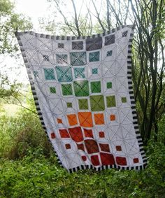 Fifty Shades of 4 Ply: Quilt Inspired Blanket Ta-Dah!!!!