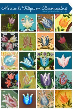 Atelier Gina Pafiadache: Mosaico de Tulipas