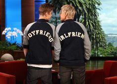 Justin Bieber and Ellen: Boyfriend and Girlfriend.