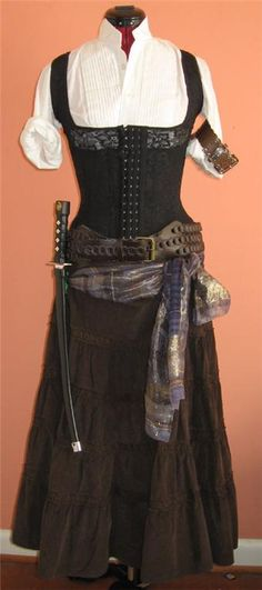 Pirate Costume.... a couple piece changes and this goes from Ren to Steampunk