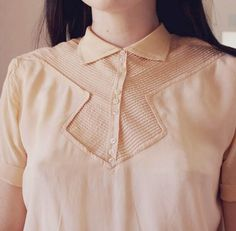 Esme and the laneway: 1930s silk blouse