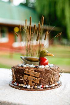 Whimsical Duck-Hunting-Inspired Groom's Cake