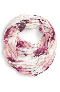 David & Young 'Floral Grid' Infinity Scarf available at #Nordstrom