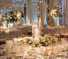 This beautiful white and green decor would be perfect for the simple but impressive Pavilion at Harewood